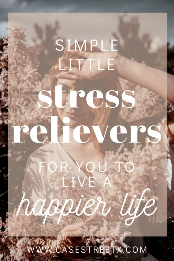 Stress relievers from a mental health blogger.